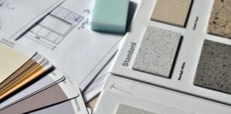 Paint and tile samples