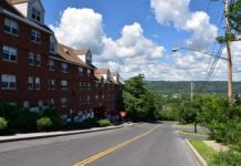 A street in Ithaca, one of the most charming small towns in New York State.