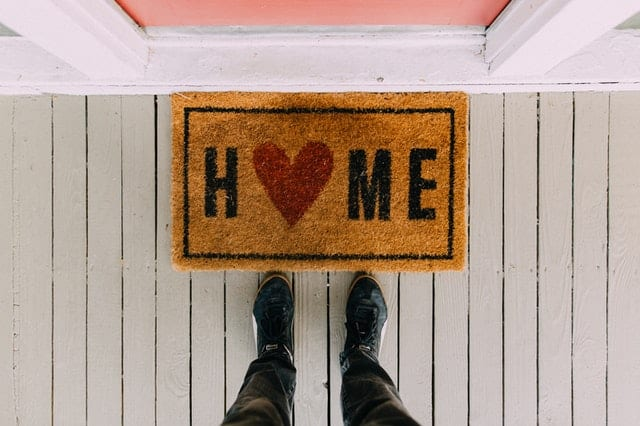 A welcome mat.